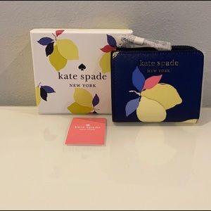 NWT Kate Spade Lemon Bi-fold Wallet